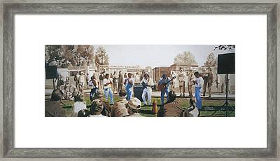 Musicians And The Impromptu Tenor Framed Print