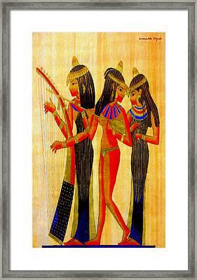 Musicians Of Egypt - Pa Framed Print