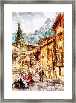Musicians Of Switzerland Framed Print