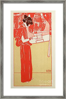 Musik Framed Print by Gustav Klimt