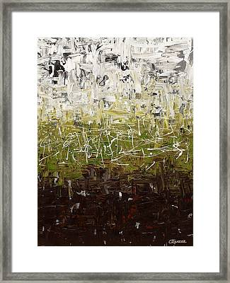 Framed Print featuring the painting Musing by Carmen Guedez