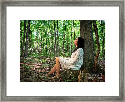 Framed Print featuring the photograph Musing.. by Nina Stavlund
