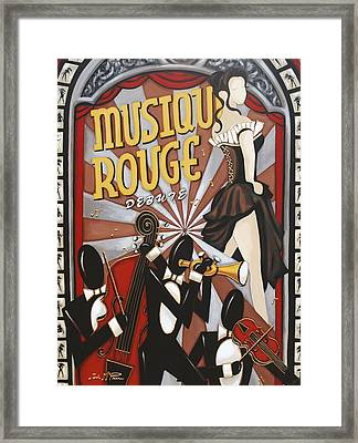 Musique Rouge Framed Print by Lori McPhee