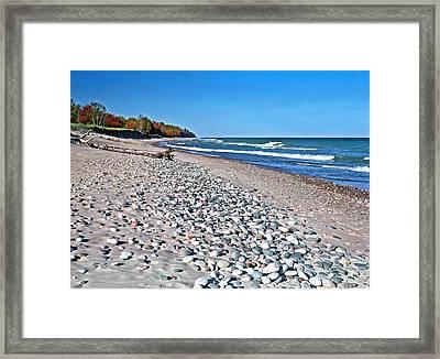 Muskallonge Beach Framed Print