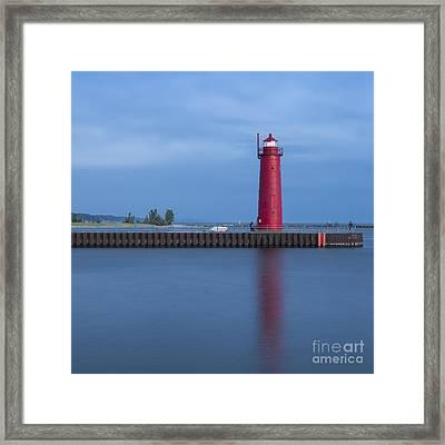 Muskegon Inner Breakwater Light Framed Print by Twenty Two North Photography