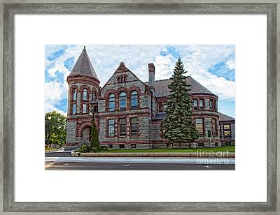 Muskegon Library Framed Print by Emily Kay