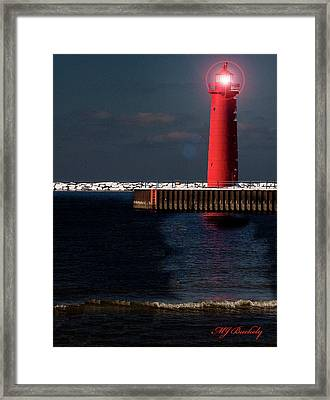 Muskegon Mi Lighthouse Framed Print by Marti Buckely