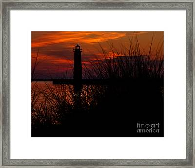 Muskegon Nights Framed Print by Emily Kay