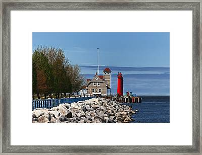 Muskegon Pierhead Light Framed Print