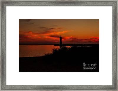 Muskegon Sunset Framed Print by Emily Kay