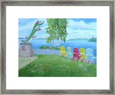 Muskellunge Sculpture Clayton Ny Framed Print