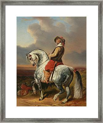 Musketeer On A Dapple Grey Framed Print by MotionAge Designs