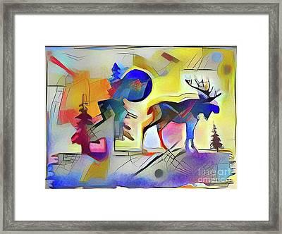 Muskoka Abstract Framed Print by Anthony Djordjevic