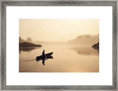 Muskoka Morning Framed Print