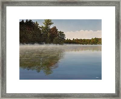 Muskoka Morning Mist Framed Print by Kenneth M  Kirsch