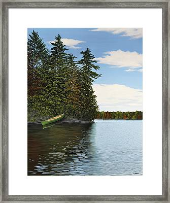 Muskoka Shores Framed Print by Kenneth M  Kirsch
