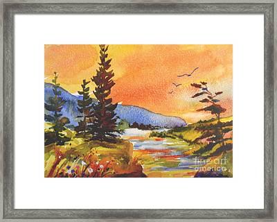 Muskoka Sunset Framed Print