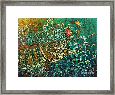 Musky- Chasin Framed Print by Sue Duda