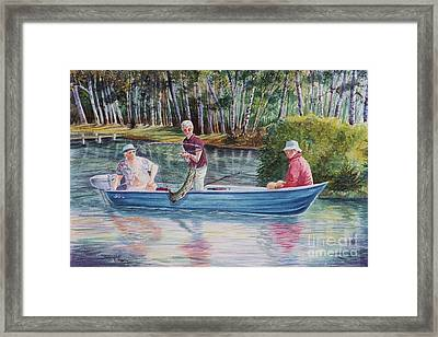 Musky Madness Framed Print by Marilyn Smith