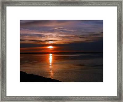 Musselburgh Sunset Framed Print by Nik Watt