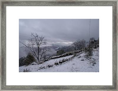 Mussoorie Winter - 2 Framed Print by Padamvir Singh