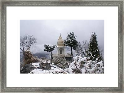 Mussoorie Winter -3 Framed Print by Padamvir Singh
