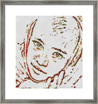 Must Be The Eyes Vegged Out Framed Print