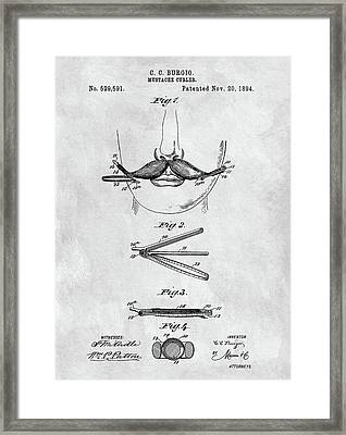 Mustache Curler Patent Framed Print by Dan Sproul
