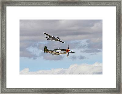Mustang And Mitchell Framed Print