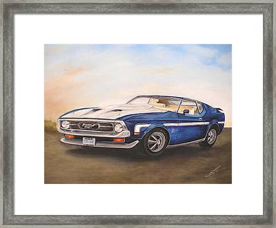 Framed Print featuring the painting Mustang by Anna-Maria Dickinson
