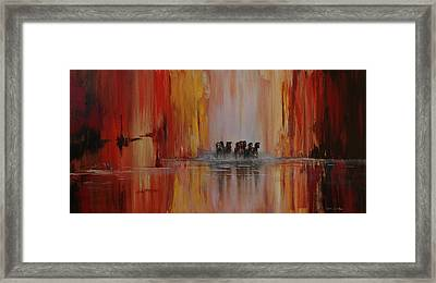 Mustang Canyon Framed Print by Karen Kennedy Chatham