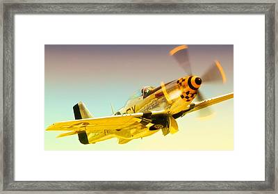 Mustang Checkmate Framed Print
