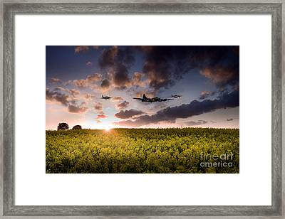 Mustang Escort Framed Print by J Biggadike