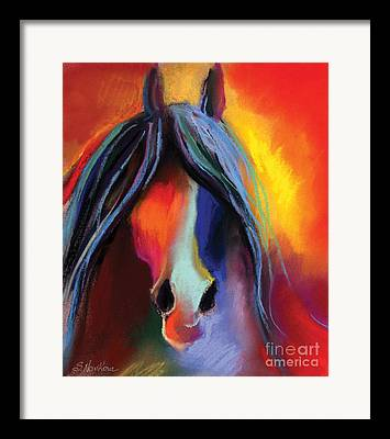 Equine Art Pastels Framed Prints