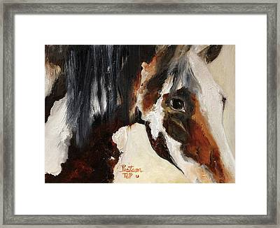 Mustang In My Heart Framed Print