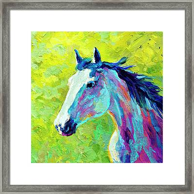 Mustang Framed Print by Marion Rose