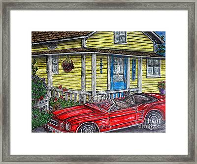 Mustang Sallys' Place Framed Print