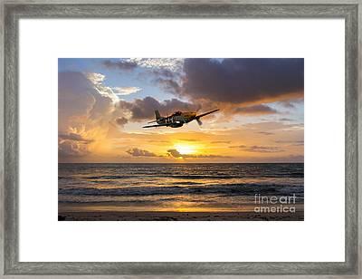 Mustang Sunset Framed Print by J Biggadike