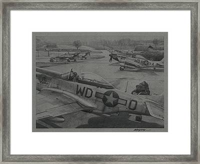 Mustang Winter Framed Print