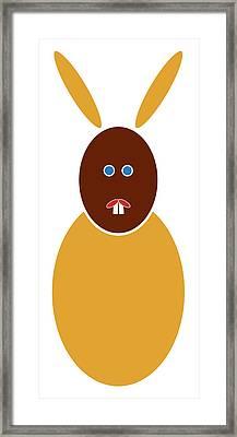 Mustard Bunny Framed Print