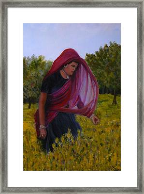 Mustard Fields Of India Framed Print by Betty Pimm