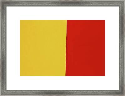 Mustard Ketchup Abstract Framed Print