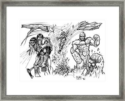 Mutants For Hire Framed Print by Shane Morphis