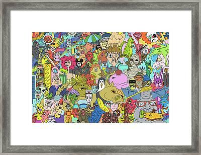 Mutants Framed Print by JB McKracken