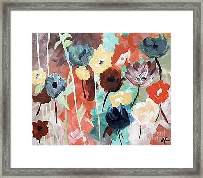Muted Floral Abstraction Framed Print by Jilian Cramb - AMothersFineArt