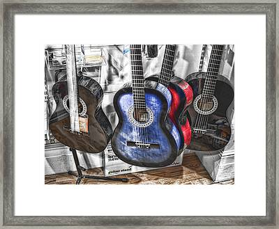 Muted Guitars Framed Print