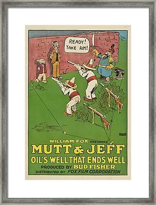 Mutt And Jeff 1919 Framed Print by Mountain Dreams