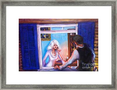 Intimate Conversation Framed Print