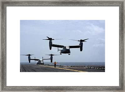 Mv-22 Osprey Aircrafts Us Navy Framed Print by Celestial Images