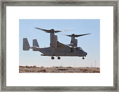 Mv-22b Osprey Tilt-rotor Aircraft  Framed Print